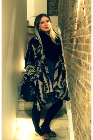 Lee dress - Topshop coat - Marc by Marc Jacobs bag - over th knee Topshop socks 