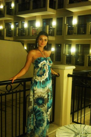 turquoise blue maxi dress floral dress