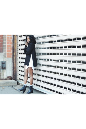 black Vince Camuto boots - black Topshop sweater