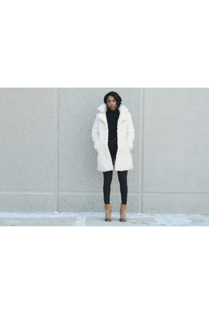 white Topshop coat