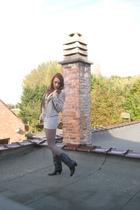 Zara blazer - second hand boots - H&M stockings