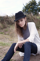 miss 60 jeans - hat - coute sweater - coute top