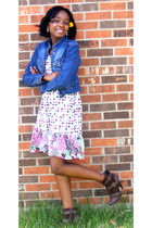 jacket - Duck Head Jeans Co dress - brown Charlotte Russe boots