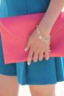 Teal-zara-shorts-envelope-sportsgirl-bag-chartreuse-zara-sandals