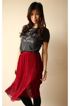 raffaella friend of mine boots - maroon Mossman skirt