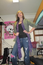 PacSun jacket - shirt - abercrombie and fitch jeans - Betsey Johnson tights - Fo