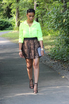 Zara bag - Zara skirt - American Eagle blouse - Zara heels