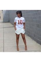 Zara shorts - NFL shirt - Zara heels