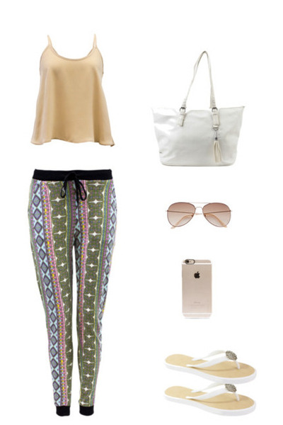 nude flared cami Danice Stores blouse - Danice Stores pants