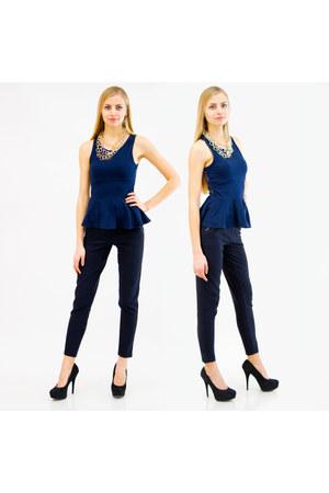 navy Danice pants - navy Danice top