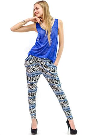 blue Danice top - blue Danice pants