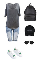 charcoal gray Danice Stores t-shirt - Danice Stores shorts
