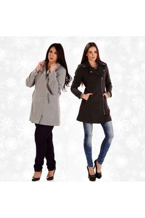 heather gray wool coat Danice Stores coat