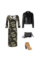 mustard Danice Stores boots - Danice Stores dress - black Danice Stores purse
