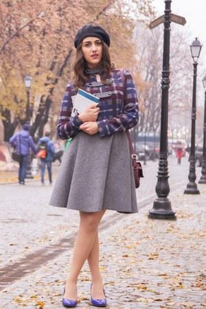 silver wool nikira rinadi dress - blue pull&bear heels