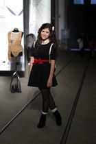 Zara dress - Zara tights - BLANCO bag - H&M accessories - romwe accessories