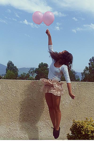 light pink Zara skirt - black Primark shoes - white Stradivarius shirt