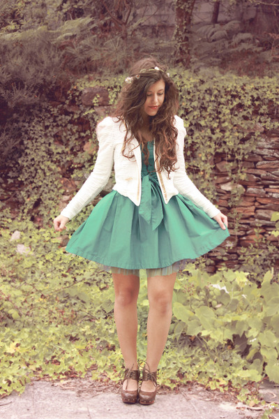 Bershka dress - OASAP blazer - BLANCO clogs