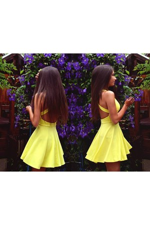 light yellow dress