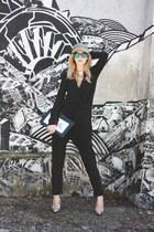 Versace for H&M necklace - silver H&M hat - black Moon purse - H&M sunglasses