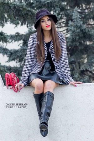 black Givency -Tiffany Lux boots - black hat - Rainbow Shop New York jacket