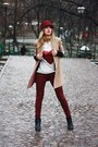 Black-topshop-boots-brick-red-zara-jeans-brick-red-stefanel-hat