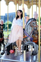off white Romanian Label blouse - pink tulle Zaza Boutique skirt