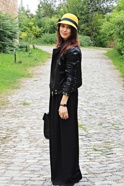 black Mango jacket - black Stradivarius pants - black Stradivarius top