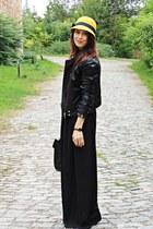 black Mango jacket - black Stradivarius pants - black Stradivarius top