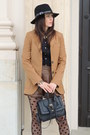 Brown-h-m-boots-black-front-row-shop-hat-camel-mango-blazer