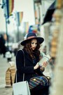 Navy-romwe-dress-black-fontana-20-coat-navy-h-m-hat