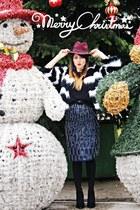 black River Island boots - magenta Pimkie hat - navy sequin River Island skirt