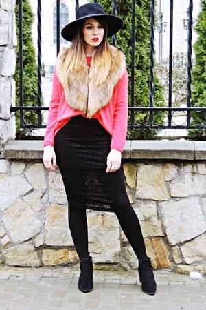 black River Island boots - black Pimkie skirt