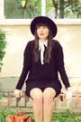 Silver-shoes-black-zara-dress-black-c-a-hat-off-white-zara-shirt