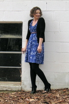 ny & co dress - thrifted belt - old cardigan - Target tights - payless shoes
