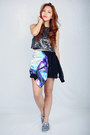 Blue-cosmic-print-nava-jacket-charcoal-gray-sequined-nava-top