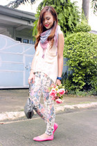 floral print Nava pants - sporty quicksilver watch