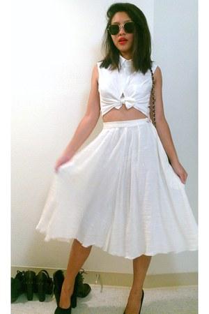 Gap blouse - sister made skirt - Steve Madden heels