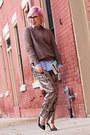H-m-sweater-jcrew-earrings-jcrew-blouse-isabel-marant-pants