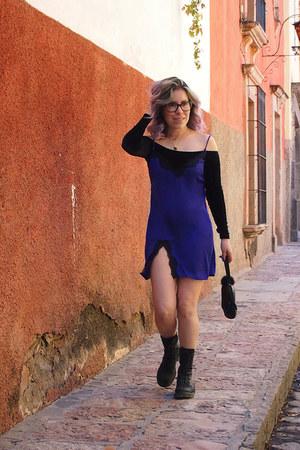 All Saints boots - Urban Outfitters dress - bcbg max azria bag