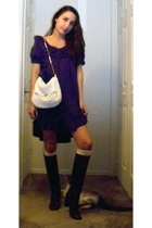 vintage purse - BB Dakota dress - vintage boots