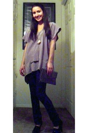 Zara Basic blouse - vintage accessories - accessories - oxfords shoes
