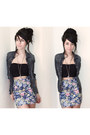 Denim-forever-21-shirt-cotten-h-m-skirt
