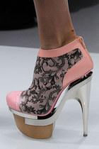metallic versace shoes