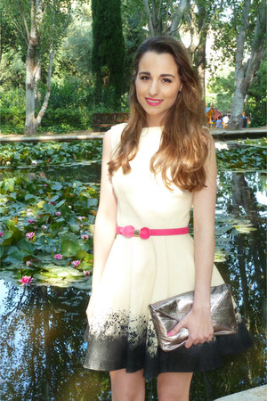 ivory diy Asos DIY dress - silver DIY bag - hot pink BLANCO belt