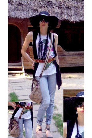 cool by C&A jeans - unknown hat - gussasi bag - italian vintage belt