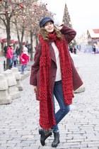 asos scarf - Zara boots - Zara coat - Zara jeans - Zara sweater