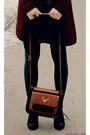 Accessorize-bag-black-tamaris-boots-dark-green-calzedonia-tights