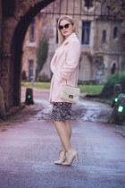 new look coat - Paolo Conte boots - asos sunglasses - River Island skirt