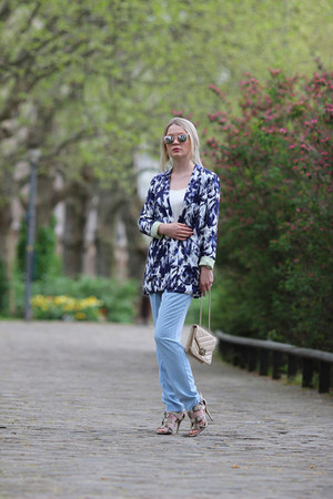 River Island jacket - asos sunglasses - River Island pants - Guess heels